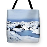 By The Blue Lagoon In Iceland Tote Bag