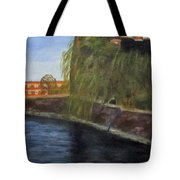 By The Canal - Leuven Belgium Tote Bag