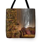 By The Christmas Tree Tote Bag