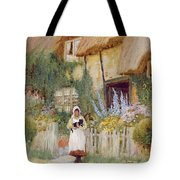 By The Cottage Gate  Tote Bag