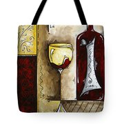 By The Fireside Original Madart Painting Tote Bag