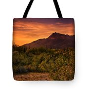 By The Light Of The Sunset Tote Bag