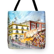 By The Old Cathedral In Cartagena 02 Tote Bag