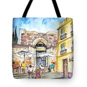 By The Old Cathedral In Cartagena 01 Tote Bag