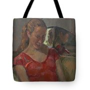 By The Old Mirror, 2009 Oil On Canvas Tote Bag