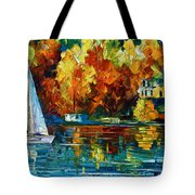 By The Rivershore Tote Bag by Leonid Afremov