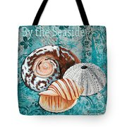 By The Seaside Original Coastal Painting Colorful Urchin And Seashell Art By Megan Duncanson Tote Bag