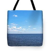 Bye Bye Birdies Panoramic Tote Bag