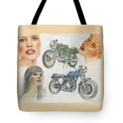 Bykes And Byrds 1 Tote Bag