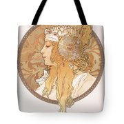 Byzantine Head Of A Blond Maiden Tote Bag