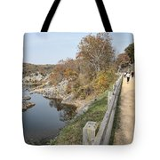 C And O Canal Above And Potomac River Below Tote Bag