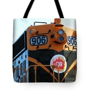 C N R Train 906 Rustic Tote Bag