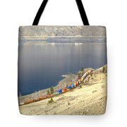 C P R And C N R Freight Trains Tote Bag