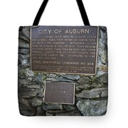 Ca-404 City Of Auburn Tote Bag
