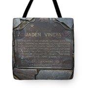 Ca-505 Almaden Vineyards Tote Bag