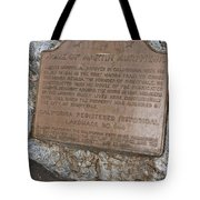 Ca-644 Home Of Martin Murphy Jr Tote Bag