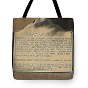 Ca-909 Our Lady Of The Wayside Tote Bag