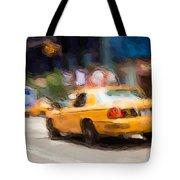 Cab Ride Tote Bag