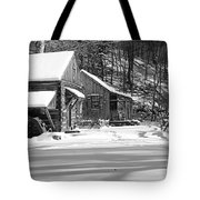 Cabin Fever In Black And White Tote Bag