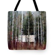 Cabin In The Forest Tote Bag