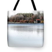 Cabin On A Lake Tote Bag