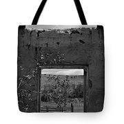 Cabin Window 2 Bw Tote Bag by Roger Snyder