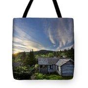 Cabins At Dawn Tote Bag