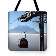 Cable Car Above The Andes Tote Bag