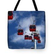 Red Line Cable Car Gondolas Bolivia Tote Bag