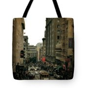 Cable Car In The City Tote Bag