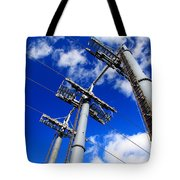 Cable Car Pillars Tote Bag
