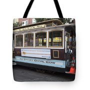 Cable Car Turn-around At Fisherman's Wharf Tote Bag