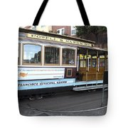 Cable Car Turn-around At Fisherman's Wharf No. 2 Tote Bag
