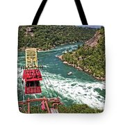 Cable Car Whitewater Tote Bag