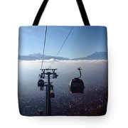 Cable Cars Over La Paz City Tote Bag