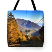 Cableway In Autumn Tote Bag