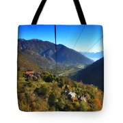 Cableway Over The Mountain Tote Bag