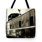 Caboose - Bw - Vintage Tote Bag