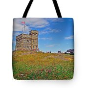 Cabot Tower In Signal Hill National Historic Site In Saint John's-nl Tote Bag