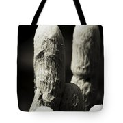 Cacti Ghost B And W  Tote Bag