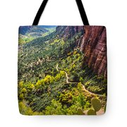 Cacti View Of Zion Tote Bag