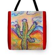 Cactus And Clouds Tote Bag