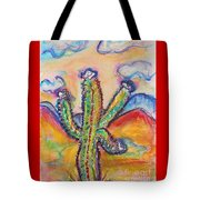 Cactus And Clouds Tote Bag