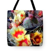 Cactus Flowers Bright And Prickly Tote Bag
