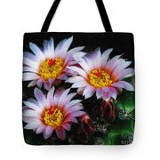 Cactus Flowers With Texture Tote Bag