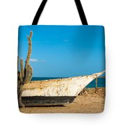 Cactus On A Beach Tote Bag