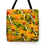 Cactus Pattern 2 Yellow Tote Bag by Amy Vangsgard