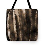 Cactus Sepia Tone Panama Tote Bag