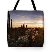 Cactus Sunset  Tote Bag