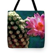 Cactus With Pink Sunlit Bloom Tote Bag